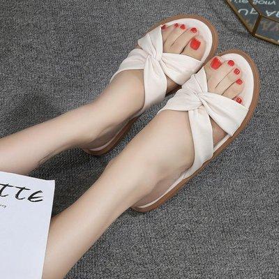 拖鞋女夏網紅新款韓版百搭潮平底時尚孕婦外穿軟底涼拖大碼41-微利雜貨鋪-可開發票