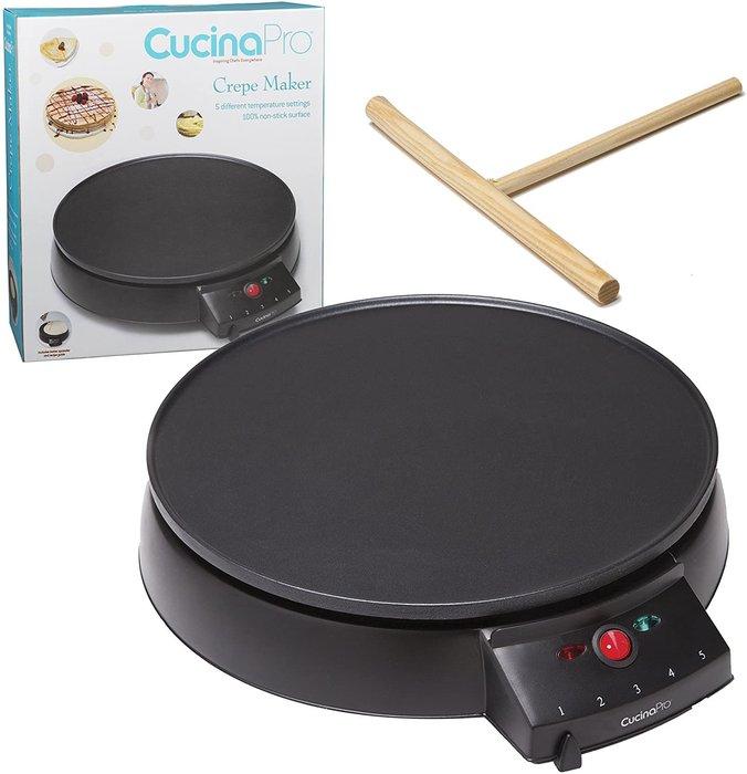 【樂活先知】『代購』美國 CucinaPro  家用平板可麗餅機 鬆餅 蛋餅 煎鍋 煎餅果子