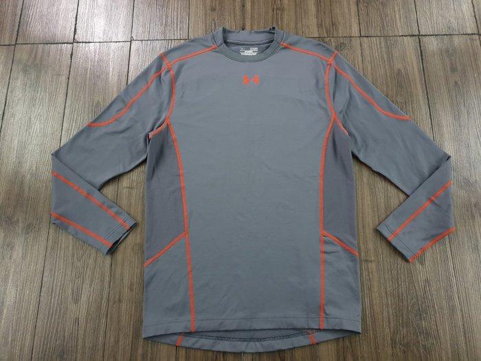 Under Armour 灰色 鋪棉 長袖運動T恤 (XL)  (一元起標 無底價)