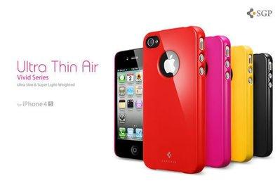 [Good] 正品出清SGP Ultra thin air for iPhone 4S 保護殼、手機殼、超輕薄-- 送防塵塞