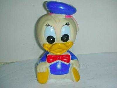 aaL皮商旋.(企業寶寶玩偶娃娃)已稍有年代早期迪士尼唐老鴨軟膠娃娃!--值得收藏!/6房樂箱149/-P