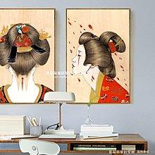 日本浮世繪掛畫仕女圖日式風格酒店裝飾畫榻榻米料理店壁畫(多款可選)