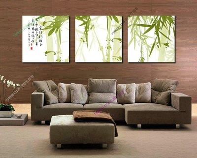 【60*60cm】【厚0.9cm】竹子-無框畫裝飾畫版畫客廳簡約家居餐廳臥室牆壁【280101_416】(1套價格)