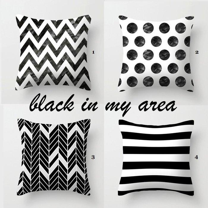 C - R - A - Z - Y - T - O - W 雙面圖案抱枕靠枕北歐原創簡約抱枕靠枕 幾何美式黑白英文抱枕