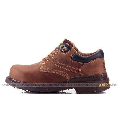 男款 MGA574 C00 凱欣 KS 真皮鋼頭低筒 安全鞋 工作鞋 褐色 Ovan