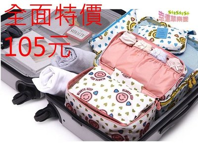 幸運草樂園~韓國第 多 旅行內衣褲收納袋 手提式旅行袋 內衣收納包 旅行收納大容量收納