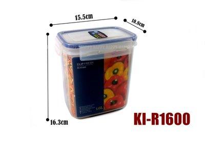 [歡樂廚房] KEYWAY 聯府 KI-R1600 天廚長型保鮮盒 密封盒 扣式 1.6L 製
