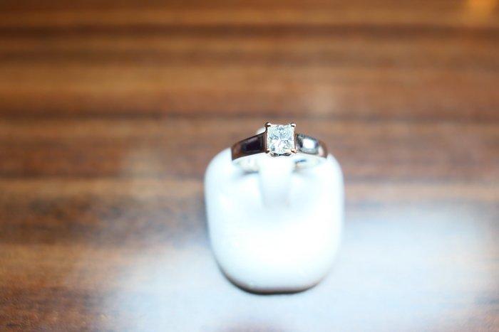 [吉宏精品交流中心]52分 公主方 天然鑽石 白K金 造型 戒指