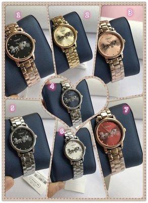 DanDan代購 美國正品 COACH 新款女士精鋼鋼帶手錶石英錶氣質時尚 附購證 買即送禮