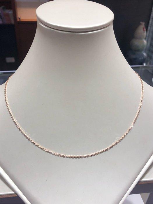 Au750 18K金項鍊,寬版玫瑰金跳舞鍊,顏色漂亮閃亮質感超棒,超值優惠價5980,有各種不同重量粗細歡迎詢問價格