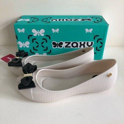 《現貨》Zaxy 香香鞋 防水娃娃鞋 巴西尺寸37,38(經典蝴蝶飾 果凍娃娃鞋-米色)