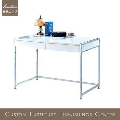 HOME MALL~白色書桌(DIY自行組裝)(1040W)$3300元(雙北市免運費)6N