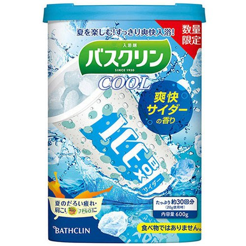 【JPGO】預購-日本製 巴斯克林 ICE BOX COOL入浴劑 泡澡.泡湯 600g~爽快 碳酸汽水#873