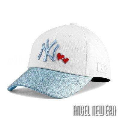 【PD帽饰】【MLB Old Fashioned Cap】NY 洋基 白 藍 金蔥 金粉 老帽【ANGEL NEW ERA 】