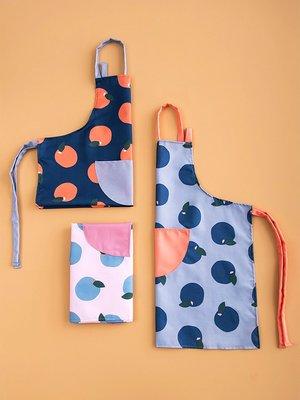 圍裙象有秘密 時尚簡約可調節防水防油易清洗做飯罩衣女廚房清潔圍裙