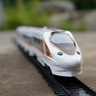 玩具火車 奧樂仿真復興號電動高鐵軌道聲光和諧號動車模型兒童火車軌道玩具