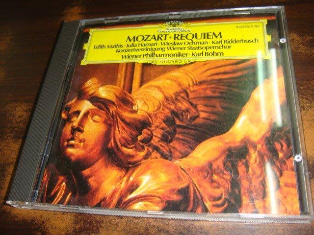 好音悅 半銀圈 Bohm 貝姆 Mozart 莫札特 Requiem 安魂曲 VPO 維也納愛樂 DG 德版 無IFPI