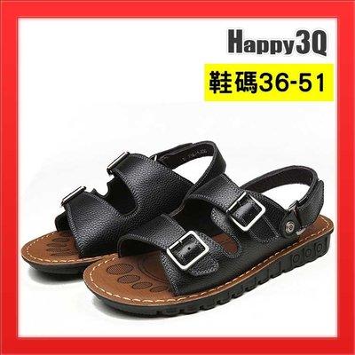 大尺碼涼鞋真皮涼鞋大尺碼男鞋加大男鞋休閒鞋50沙灘鞋49-棕36-50【AAA2010】預購