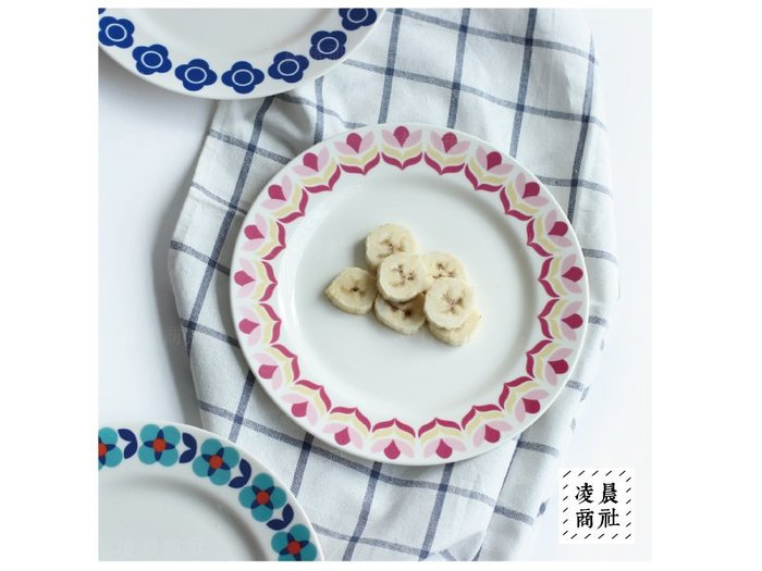 凌晨商社 //北歐設計 zakka 烘培 創意  陶瓷 可愛 花朵 西餐   蛋糕盤 點心盤  牛排盤