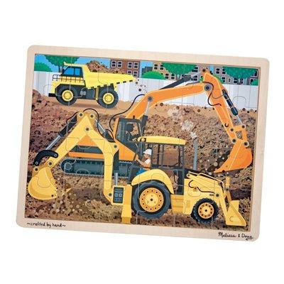 【晴晴百寶盒】美國進口 木製拼圖1 Melissa&Doug 智力開發 手部練習 環保無毒玩具 辨識圖型 W709