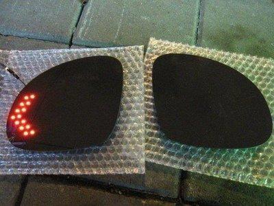 (柚子車舖) LEXUS 2001-2006 ES300 鉻鏡雙箭頭LED方向燈電熱除霧後視鏡片(專用卡榫)