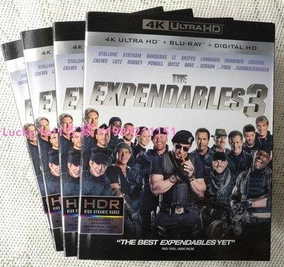 Lucky 1of1收藏正版藍光 The Expendables 3 敢死隊3 4K UlHD 碟初版紙套美