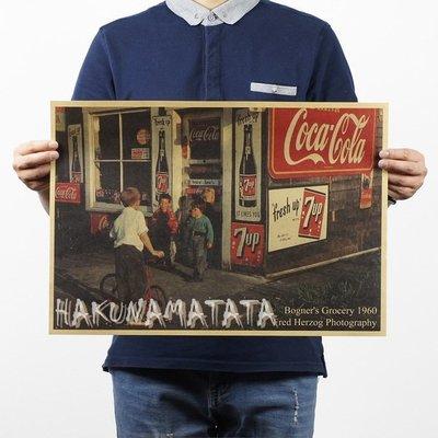 【貼貼屋】美國街頭小店 60年代 懷舊復古 牛皮紙海報 壁貼 店面裝飾 交換禮物 369