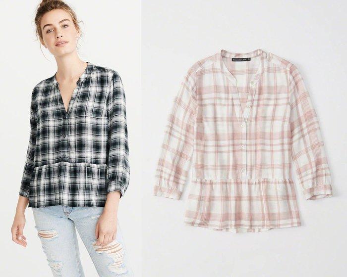 。simple。美國 Abercrombie & Fitch A&F AF 女生 七分袖襯衫 短T XS/S