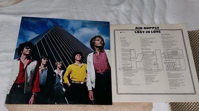 【李歐的音樂】幾乎全新佳上揚/ARISTA 1980年 AIR SUPPLY LOST IN LOVE 黑膠唱片 LP