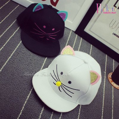 ☆[Hankaro]☆ 夏季新款貓咪兒童遮陽帽系列~(合併批發另洽)