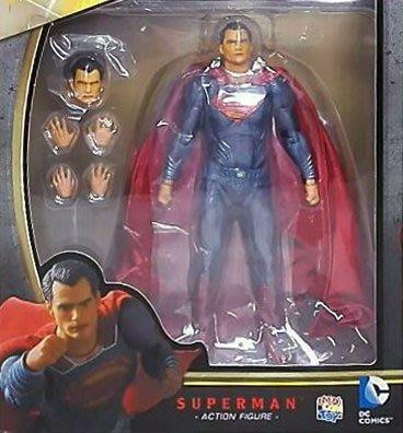 日本正版 MEDICOM TOY MAFEX 蝙蝠俠對超人 正義曙光 超人 可動 模型 公仔 日本代購