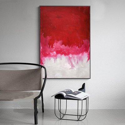 C - R - A - Z - Y - T - O - W - N 紅色塗鴉抽象藝術掛畫客廳餐廳大尺寸玄關畫設計師裝飾畫
