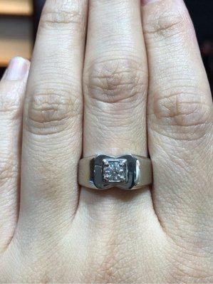 30分天然鑽石鉑金戒指,經典戒台無配鑽款式適合平時佩戴,超值優惠價26800,送禮自用都可以,經典男用款式