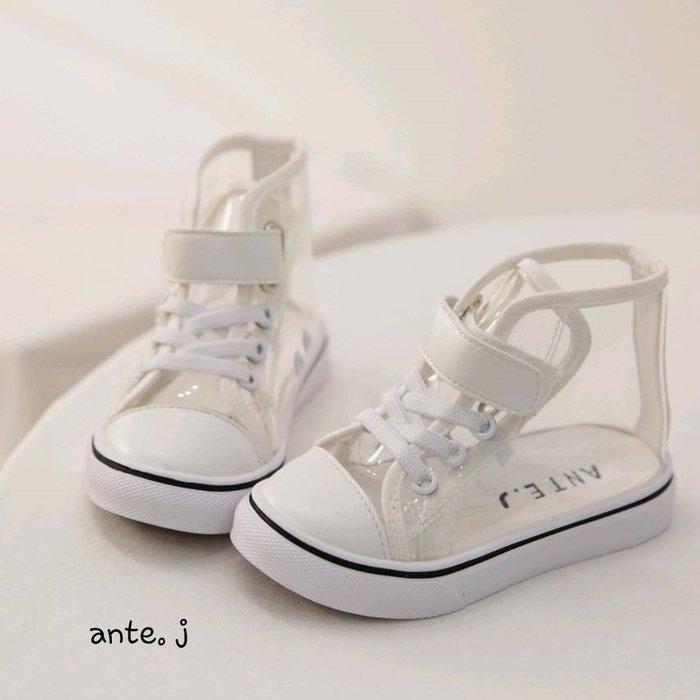 『※妳好,可愛※』 妳好可愛韓國童鞋 正韓 經典款透明休閒鞋 透明魔鬼氈休閒鞋 韓國童鞋 女童鞋 男童鞋