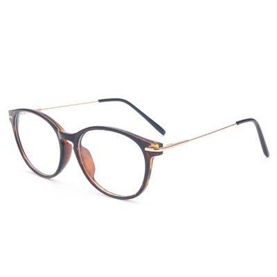 眼鏡 框 橢圓框 鏡架-時尚簡約個性透明男女平光眼鏡4色73oe65[獨家進口][米蘭精品]