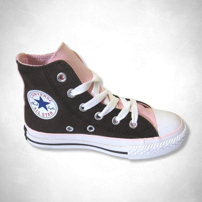 Converse All Star 女孩咖啡色中高筒帆布鞋(13號) (307831) ~全新正品