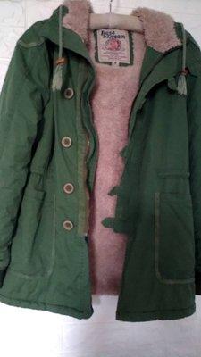 BASE&DREAM軍綠色軍裝帥氣厚內毛毛長袖保暖外套M號 (3-7) 台中市