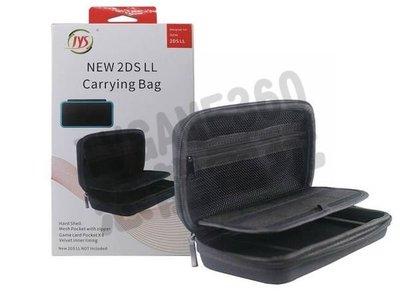 任天堂 Nintendo New2DSLL 副廠 EVA 網狀 主機包 硬殼包 收納包 攜帶包 黑色【台中恐龍電玩】