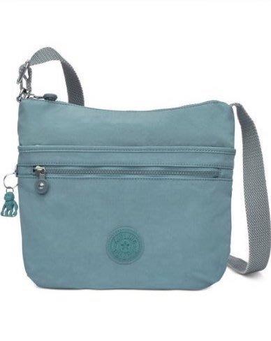 Coco小舖 Kipling Arto Crossbody Bag 灰藍色斜背包