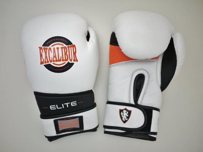 【神拳阿凱】Excalibur 8008/08 ELITE 菁英款 拳擊手套 12oz 14oz 白橘(免運)