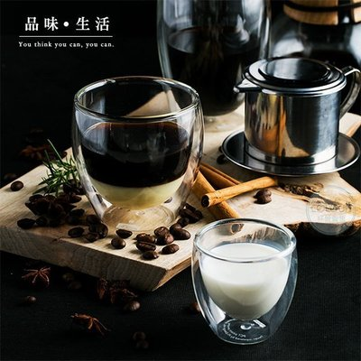 80ml 耐熱雙層玻璃杯 蛋形水杯 透明隔熱花茶杯 咖啡杯 果汁杯 啤酒杯 ※ COLOUR 歐洲生活家居 ※