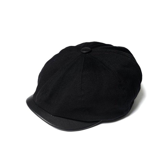 美國東村【Retrodandy】狩獵帽 Hunting Cap (Kids) - 黑 Black (皮帽沿)
