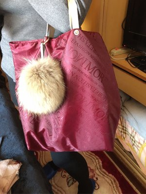 more fashion手提大號防水購物袋灰色