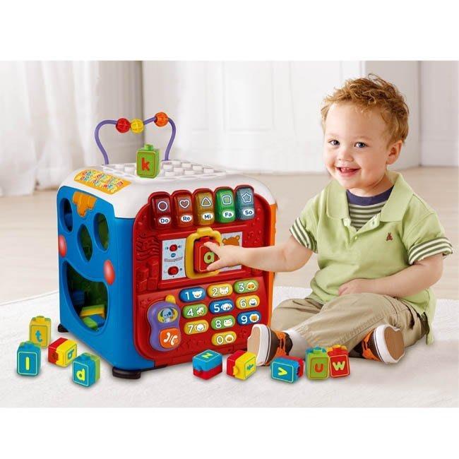 °✿豬腳印玩具出租✿°VTECH 聲光積木學習寶盒(1)(五面學習盒提供不同樂趣)~預約02/13