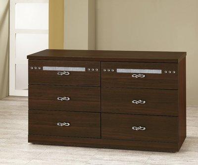 [歐瑞家具]YA209-5星夜胡桃六斗櫃/系統家具/沙發/床墊/茶几/高低櫃/床組/高櫃/1元起/高品質/最低價