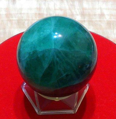 100%天然 A貨 7公分 綠水晶 綠龍晶 斐冷翠 水晶球