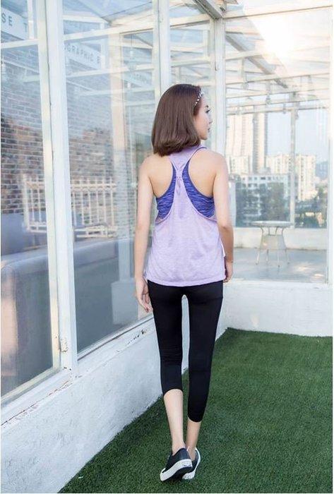 【Zoe Sport 柔依運動衣坊】【銷日精品】女 假兩件 内衣+背心  無痕 無鋼圈 Bra 瑜伽 跑步 健身