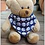 ♥gritas handmade♥純棉手作嬰幼兒圍兜兜/領巾/口水巾/三角巾/彌月禮—月亮臉譜