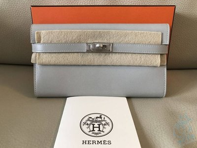 減價-Hermes Kelly Wallet 銀包 100% New