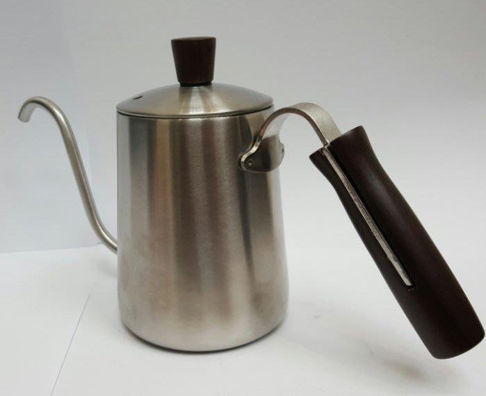 ~* 萊康精品 *~ 加厚不鏽鋼 S型原木 手沖咖啡壼 細口壼 350cc